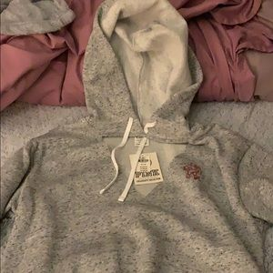 Victoria's Secret pink v neck hoodie gray hoodie